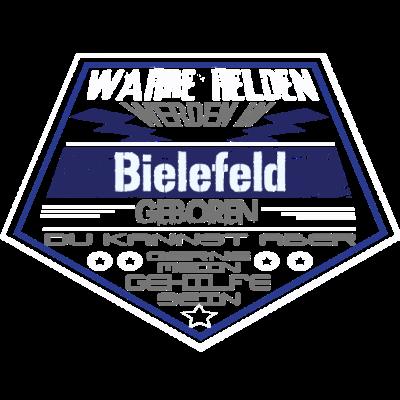 Wahre Helden Bielefeld - Sichere dir dieses einzigartige Design und zeige allen das Wahre Helden aus Bielefeld kommen. - Superhelden,leben in Bielefeld,leben in,geboren in Bielefeld,Nordrhein-Westfalen,lustig,geboren in,Stadt,Geburtstag,Geburtsort,Superhero,Superheld,Helden,Bielefeld,bielefeld