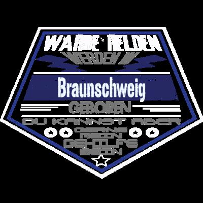 Wahre Helden Braunschweig - Sichere dir dieses einzigartige Design und zeige allen das Wahre Helden aus Braunschweig kommen. - Superhelden,leben in Braunschweig,leben in,geboren in Braunschweig,Niedersachsen,lustig,geboren in,Stadt,Geburtsort,Superhero,Superheld,Helden,Braunschweig,braunschweig