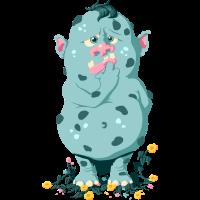 Troll im Blumenbeet