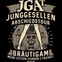 JGA Tour Bräutigam - Geburtstags Geschenk - RAHMENLOS Shirt Design