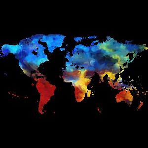 Weltkarte gemalt