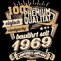 Premium Qualität seit 1969 - Geburtstags Geschenk - RAHMENLOS Shirt Design