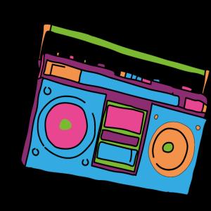Hipster Kassettenrekorder