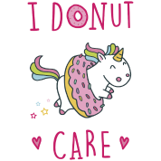 Einhorn Tasse - I Donut Care Tasse | Kisses and Rainbows