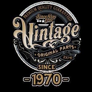 Day One Vintage since 1970 - Original Parts RAHMENLOS Birthday