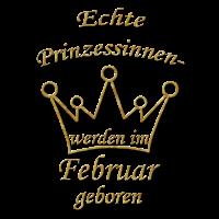 Prinzessinnen Februar geboren Geburtstags Geschenk