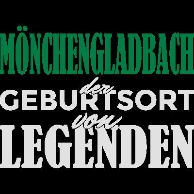 Mönchengladbach - Geburtsort von Legenden! - Mönchengladbach der Geburtsort von Legenden! Du bist in Mönchengladbach geboren und stolz darauf? Dann ist das hier das richtig Design für dich! - nrw,Stadt,Spruch,Ruhrstadt,Ruhrpott,Ruhrgebiet,Mönchengladbach,Identität,Idee,Gladbach,Geschenkidee,Geschenk,Geburtstagsspruch,Geburtstagskind,Geburtstagsgeschenk,Geburtstag,Geburtsstadt,Geburtsort,Geburt,Birthday