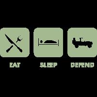 Eat, Sleep & Verteidigung