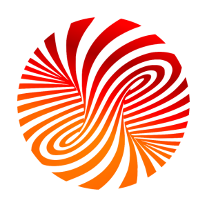 psychedelic Optik Art Strudel 70er orange Style fu