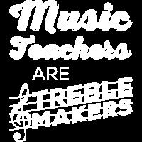 Musiklehrer sind Höhen Macher