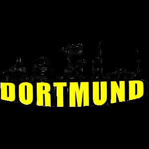Dortmund Skyline in Schwarz Gelb 2