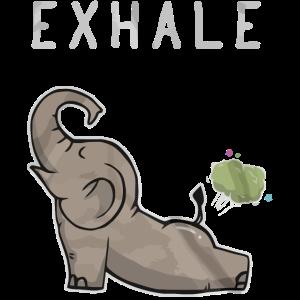 Exhale Elefant lustiges Hemd