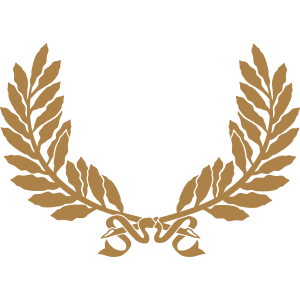 Lorbeer Kranz gold Logo Zweige