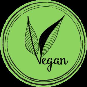 Vegan Logo Blattgrün