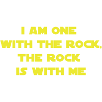 Eine mit dem Felsen