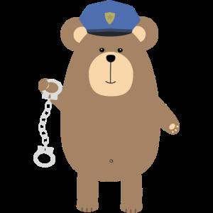 Polizei tragen mit Handschellen
