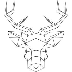 cerf geometrique png