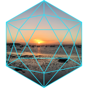 Geometric Sunset