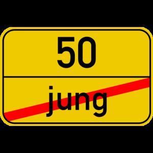 Ortsschild jung - 50