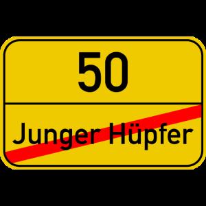 Ortsschild junger Hüpfer - 50