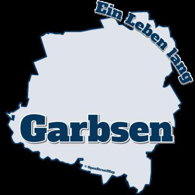 Garbsen - Ein Leben lang - Garbsen als Stadt auf dem T-Shirt, inklusive Karte von Garbsen. Ein T-Shirt für den Alltag mit einer großen Aufschrift Garbsen. Wer zu seiner Stadt steht, der trägt auch dieses T-Shirt. - Garbsenmappe,Garbsenkarte,Stadt,Garbsen,Garbsen T-Shirt,I love Garbsen,Stadtname,Ich liebe Garbsen