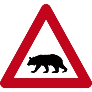 Beware of the bear sign