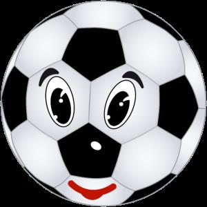 Fußball lustiges Gesicht Sieger Sportverein Rasen
