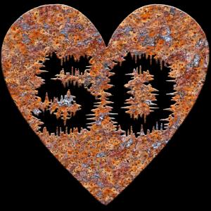 Rost Herz -50 Jahre