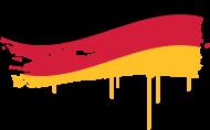 Fan-Shirt: Deutschland Flagge