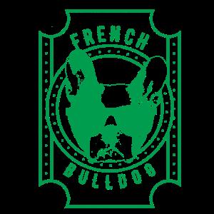 Französisch Bulldog grün