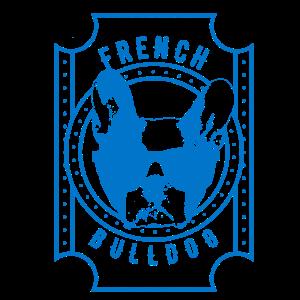 Französisch Bulldog Blau