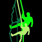 Kletterer beim Abseilen (3c)