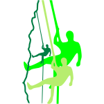 Kletterer beim Abseilen