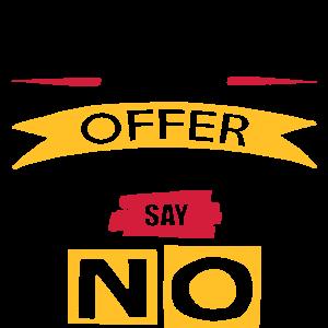 Danke für das Angebot