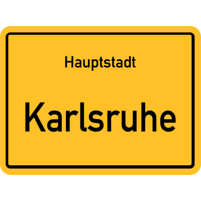 Hauptstadt Karlsruhe - Ortsschild Ortseingangsschild Schild Hauptstadt karlsruhe - ortsschild,ortseingangsschild,Karlsruhe,schild,Hauptstadt