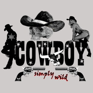 simply wild Cowboy on white