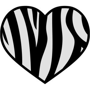Zebra Herz