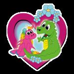 zwei beste Freunde - Einhorn und Drache