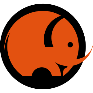 Elefant, elephant, Mammut, mammoth, Logo Signet
