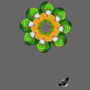 Parrot Pattern by BlackenedMoonArts, w. logo