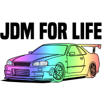 JDM for Life Colourful