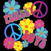 love peace hippie flower power
