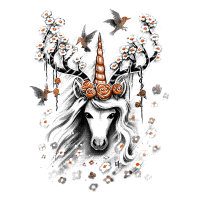 Deer Unicorn Flowers