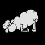 Müdes Schaf