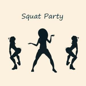 Squat party blue