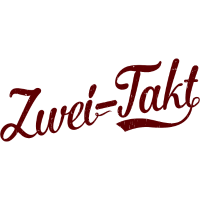 zweitakt / 2takt Schriftzug