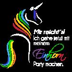 Einhorn-Party weiss