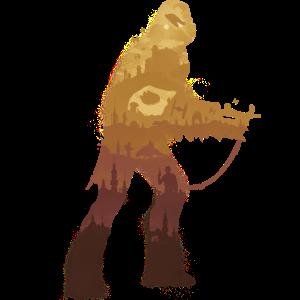 Chewbacca Silhouette