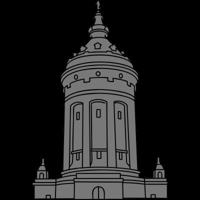 Wasserturm Mannheim 2 - Der Mannheimer Wasserturm ist ein bekanntes Wahrzeichen von Mannheim. Der  Wasserturm befindet sich am Friedrichsplatz und ist 60 Meter hoch. - städtisch,monumental,Wasserturm,Wasser,Wahrzeichen,Versorgung,Turm,Speicher,Souvenir,Rosengarten,Reserve,Neubarock,Monnem,Marktplatz,Mannheimer,Mannheim,Mannem,Kurpfalz,Hochbehälter,Gebäude,Friedrichsplatz,Brunnenanlage,Bauwerk,Baden-Württemberg