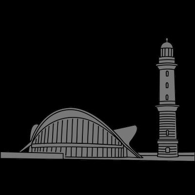 Leuchtturm Warnemünde 2 - Im Ostseebad Warnemünde befindet sich der Teepott und der Leuchtturm Warnemünde. Die Gebäude auf der Standpromenade sind bekannte Wahrzeichen der Hansestadt Rostocks. - Warnemünde,Wahrzeichen,Ufer,Turm,Tourismus,Teepott,Strandbad,Sehenswürdigkeit,Schifffahrt,Rostock,Promenade,Pavillon,Ostseebad,Ostsee,Meer,Mecklenburg-Vorpommern,Leuchtturm,Leuchte,Laterne,Küste,Hansestadt,Hafen,Fähre,DDR